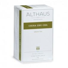 Чай зеленый в пакетиках для чашки Althaus China Zhu Cha (Альтхаус Китайский Жу Ча), 20*1,75 г