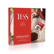 Набор черного и зеленого чая в пакетиках 12 видов TESS COLLECTION (ТЕСС коллекция), 101 г